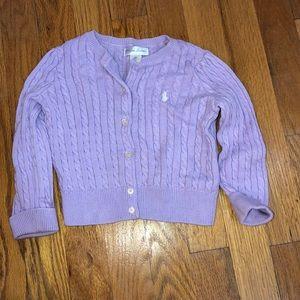 Lavender Ralph Lauren cardigan 18m